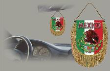 MEXICO REAR VIEW MIRROR WORLD FLAG CAR BANNER PENNANT