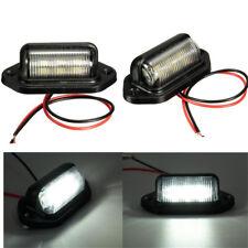 2X Universal 12V Car Truck License Plate White LED Light Lamp 6000K Waterproof