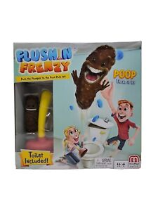 Mattel Flushin' Frenzy Game Fun and laughs for Everyone Push the Plunger till it