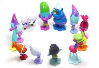 Cartoon Trolls Movie Action Figure Toys Hair Plush Poppy Dolls Plastic Puppet