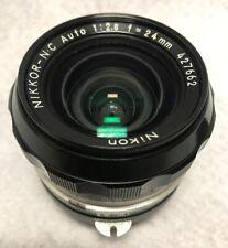 Nikon Nikkor-N Auto F=24mm 1:2.8 Lens #427662 Mint
