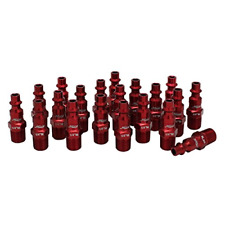 Red Coupler Plug Kit M Style Fitting Compressor Air Tool Hose Connector 20 Piece