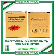 Batteria Maggiorata GOLD SAMSUNG S3 Mini i8190 2450mAh potenziata - NO DOGANA