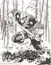 DEATHSTROKE Commission by Tony Daniel 11X14 Original Art Teen Titans Comic Art