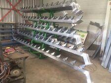 1 Set of 13 Tread Galvanized Stair Stringers