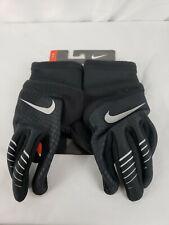 Nike Women's Therma Fit Elite 2.0 Run Gloves Black/Silver L New