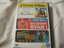 GUYS AND DOLLS MARLON BRANDO FRANK SINATRA STAR JULIE ANDREWS MAN OF LA 3 X DVD