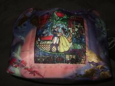 New Disney Beauty And The Beast Stained Glass Princess Belle Cosmetic Makeup Bag