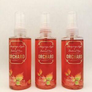 3 Bath & Body Works Orchard Honeycrisp Apple Buttered Rum Fragrance Travel Mist