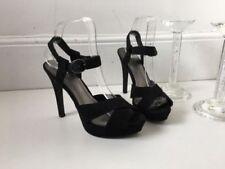 Zara Faux Suede Strappy, Ankle Straps Heels for Women