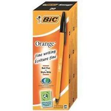 Bic Orange Ball Pen Fine Black Pack 20