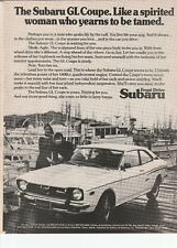Original Subaru GL Coupe Magazine Ad - Like A Spirited Woman...
