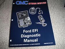 1995-96 OMC STERN DRIVE FORD EFI DIAGNOSTIC ENGINE MANUAL NEW