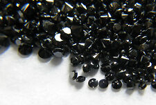 1.1mm 0.39cts 50pc Natural Loose Fancy Black Diamond Lot Opaque Round Setting