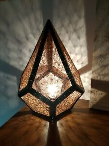 Crochet Voronoi Lamp w/ light bulb,holder and cable