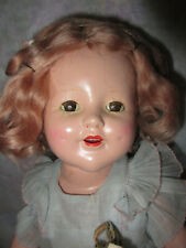 """17"""" Horsman Composition Bright Star Doll All Original, Shirley Temple Copy"""
