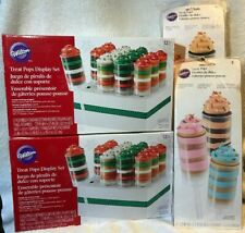 36 Wilton Christmas Treat Pops Display Stand Push Pop Caps New Cake Decorating