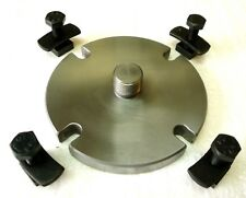 """3-1/8"""" Back Plate M14x1 Threaded with 4 Slots + Hardware For Rotary Tables New"""