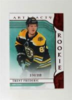 2019-20 UD Artifacts Ruby Rookies #168 Trent Frederic /399