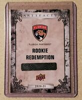 Aleksi Heponiemi Florida Panthers 2020-21 UD Artifacts SP Rookie Redemption RC