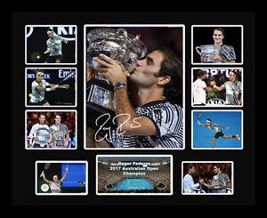 New Roger Federer Signed 2017 Australian Open Limited Edition Memorabilia Framed