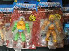 He-Man Origins Wave 1 set! 6 figures!! Battle cat!! Sky sled!!