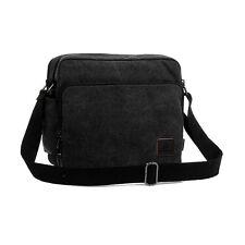 Men's Vintage Messenger Shoulder Bag Crossbody Sling School Bags Satchel Black