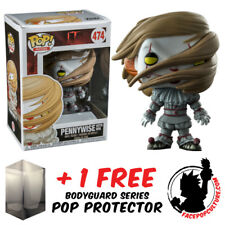 FUNKO POP VINYL IT 2017 PENNYWISE WITH WIG EXCLUSIVE + FREE POP PROTECTOR