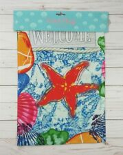 Mini Flag Decorative Garden 12 x 18 Welcome Nautical Shells Beach Starfish