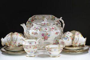 Antique HAMMERSLEY ~Dresden Spray~  TEA SET 22 pieces