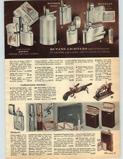 1962 PAPER AD Zippo Cigarette Lighter Sports Ronson Varaflame Nimrod Pipe
