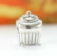 Authentic Pandora Sterling Sterling Silver & 14k Cupcake Charm 790417