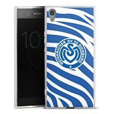Sony Xperia XA1 Ultra Silikon Hülle Case - Blaues Zebra MSV