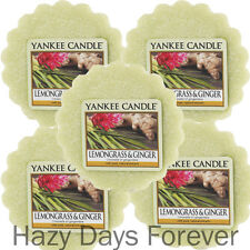 5 YANKEE CANDLE WAX TARTS MELTS Lemongrass and Ginger  BUY 2+ SAVE 20%
