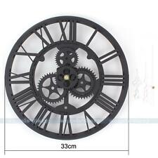 Large Gear Wall Clock Vintage Gear Steampunk Design Face Modern Mute Clock Gift