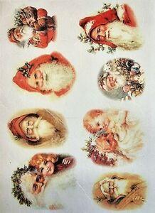 Rice Paper for Decoupage Scrapbook Craft Christmas Santa Claus197