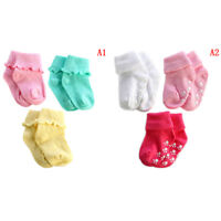 3 Pairs cotton baby boy girl cute solid toddler socks infant anti-slip socks WL