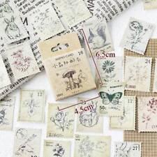 46pc Vintage animal stamp mini paper sticker decoration DIY diary