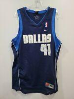 Vintage Nike NBA Dallas Mavericks Dirk Nowitzki 41 Swingman Jersey Mens XL Sewn
