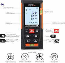 Tacklife Classic Laser Measure Hd60 196ft Minft Mute Laser Distance Meter
