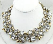 New Crystal Rivoli Rhinestone Statement Bib Necklace