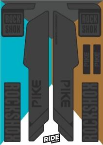 RockShox Pike 2015  Stealth Black Replica Decals.