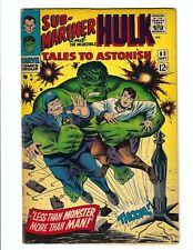 Tales to Astonish 83, FN 6.0, Marvel 1966, Silver Age, Jack Kirby, Hulk