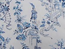 Scalamandre Fabric 'NANJING' China Blue 3.6 METRES 360cm Chinoiserie 100% Cotton