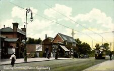 Ealing Common. Station Approach by Wakefield, Ealing. Tram.