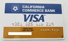USA - CALIFORNIA COMMERCE BANK - VISA - EXPIRED - CREDIT CARD - 1986 OLD & RARE