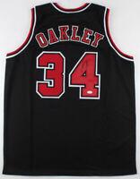 Charles Oakley Signed Chicago Bulls Oak Tree Basketball Jersey JSA COA Autograph