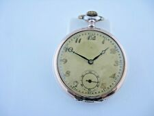 Antique German Pocket Watch 800 Silver Anker 15 Steine Fancy Dial Running
