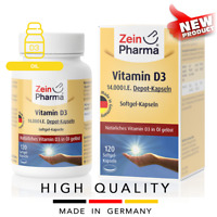 VITAMIN D3 14000 IE (120 softgel capsules) Oil form 1 cap in 2 weeks ZEINPHARMA