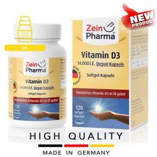 VITAMIN D3 14000 IE (120 softgel capsules) Oil form 1 cap in 2 weeks ZEINPHARMA